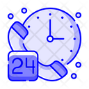 24 Hours 24 Hours Service 24 Hours Support Icon