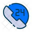 Hours Call 24 Hours Call 24 Hours Service Icon