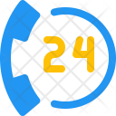 24 Hours call service Icon