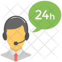 24-Hours Client Support Icon