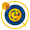 Hours Time Clock Icon
