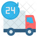 24 Hours Time Delivery Icon
