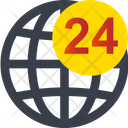 24 Hours Global Service Icon