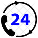 24 Hours Helpline Call Center Customer Support Icon