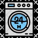 Laundry Hours Washing Icon