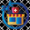 24 Hours Open Vetertinary Icon