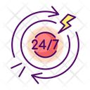 24 Hours Pain Icon