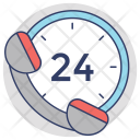 24-Hours Service Icon