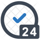 24 Hours 247 Service Icon