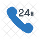 Call Phone Hours Icon