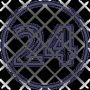 24 Service Helpline Icon