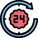 24 Hours Service 24 Hours Support Support Icon