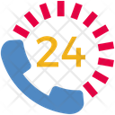 Logistics Delivery 24 Hours Icon