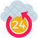Cloud Computing 24 Hours Icon