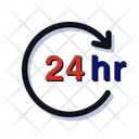 24 Hours Support Hotel Service Icon