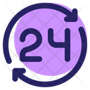 Time Ecommerce 24 Hours Icon
