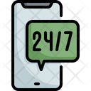 Hours 24 Support Icon