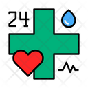 Service 24 Hours Medical Service 24 Hours Service Icon