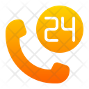 24 Hours Service Contact Customer Icon