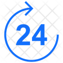 24 Hours Service Arrow Hours Icon