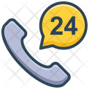 E Commerce Call 24 Hours Icon