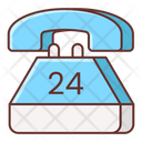 24 Hours Support Icon