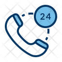24 Hours Support Service Icon
