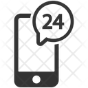 24 Hours Help Line Support Icon