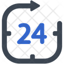 Hours Support 24 Icon