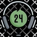 Headphone Headset 24 Hours Icon