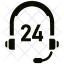 24 Hours Customer Service Call Center Icon