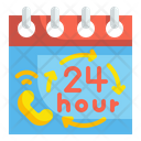 24 House Service Full Time Support Hours Icon