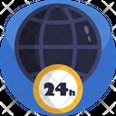24 Hr News Broadcasting Icon
