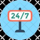 247 Full Time Icon