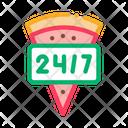 24/7 Pizza Service Icon