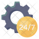 24 Hr Service Management 247 Services 24 Service Configuration Icon