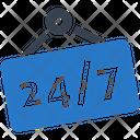 247 24 Hour Icon