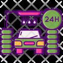24h car wash service Icon