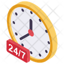 24 H Works Full Day All Time Icon