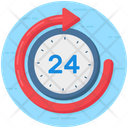 24 Hr Services Quick 2 Hr Support Icon