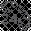 24 Hr Helpline Call Center Customer Support Icon