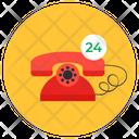 Call Service 24 Hr Helpline 24 Hr Service Icon