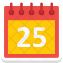 Christmas Calendar Twenty Five Calendar Icon