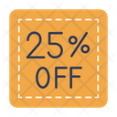25 Percent Discount Icon