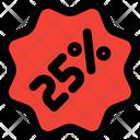 25 Percent Sticker Icon