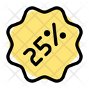 25 Percent Sticker Discount Sticker Percent Label Icon