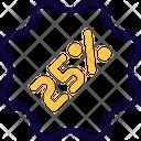 Percent Sticker Icon