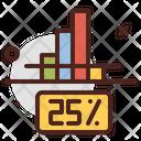 25 Percentage Chart Icon