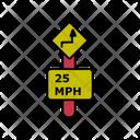 25 Mph Speed Limit Icon