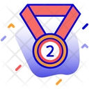 2nd Position Medal Place Icon
